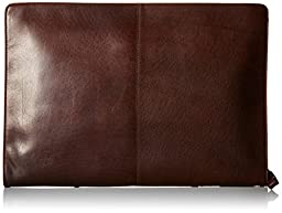 Visconti Hanz Buffalo A4 Leather Zip Around Document Holder Folio Case, Brown, One Size