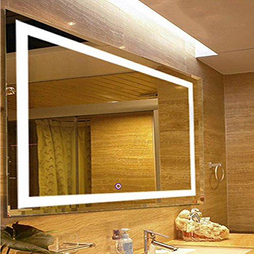 OPENING NIGHT - Large Rectangular Wall Mounted Vanity Mirror With LED Lighting