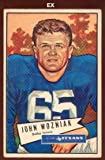 1952 Bowman Large (Football) Card# 97 John Wozniak of the Dallas Texans Ex Condition