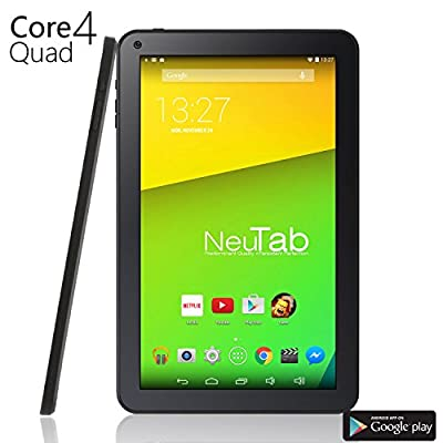 NeuTab® N10 10.1'' Quad Core Tablet PC Google Android 4.4 KitKat, 1GB RAM, 16GB Nand Flash, Bluetooth 4.0, HD Dual Camera, Google Play Pre-installed, 3D Game Supported