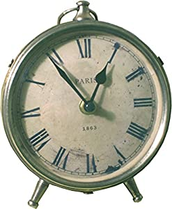 'Paris 1863' Pewter Coloured Mantel Clock