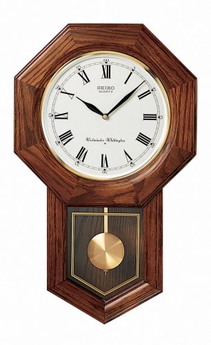 Order Seiko Wall Curio Cabinet Clock Dark Brown Solid Oak