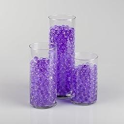 Eastland® Purple Water Pearls Vase Fillers non-toxic polymer bead swells 100% in water (Pack of 12 Bulk)