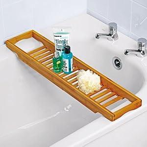 pont de baignoire bambou 64 x 15 cm. Black Bedroom Furniture Sets. Home Design Ideas
