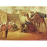 "Dolls Of India ""People And Camels Are Resting In The Desert"" Reprint On Paper - Unframed (41.91 X 31.75 Centimeters..."
