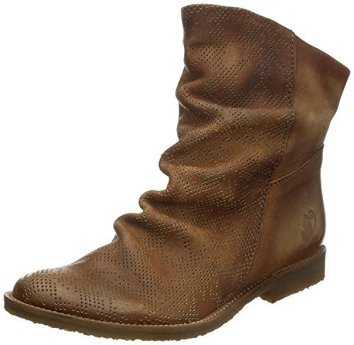 Felmini 8888 Tan Leather Womens Hi Ankle Boots-37
