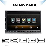 7 Inch Double Din HD Bluetooth Car MP5 Touch Screen Car Stereo Audio Video Receiver Player, 1080P Videos Car Media MP5 Player,MP3/FM Radio/USB/TF/AUX-in/Steering Wheel Control,Wireless Remote Control