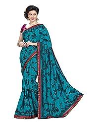 De Marca Blue Dupion Silk Designer Jai2035 Saree