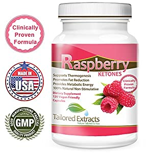 Tailored Extracts Raspberry Ketones Weight Loss Supplement And Appetite Suppressant 120 Vegetarian Capsules from Tailored Extracts