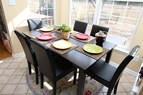 7 pc Table and Chairs Brown Dining Dinette