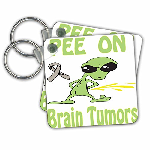 Blonde Designs Cause Awareness Designs Pee On Alien - Super Funny Peeing Alien Supporting Causes For Brain Tumors - Key Chains - set of 2 Key Chains ( kc_120646_1) (Pictures Of Women Peeing compare prices)