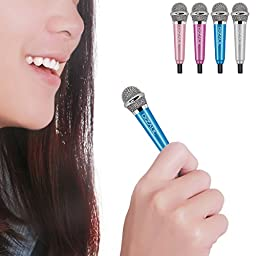 Mini Microphone,Dizaul Omnidirectional Stereo Mic for Voice Recording,Chatting for iPhone,Samsung,Cellphones,Tablets,Laptops,Computers(blue)