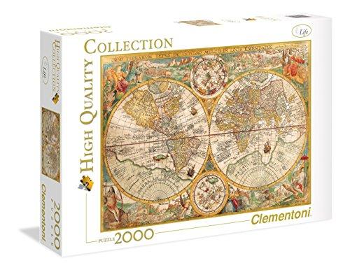 Clementoni 32557 - Puzzle 2000 HQC Ancient Map