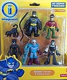 Imaginext, DC Super Friends, Exclusive Batman Heroes & Villains Pack (Batman, Robin, Catwoman, Mr. Freeze, and Bane)