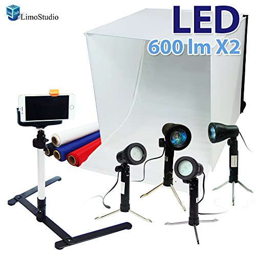 "24"" Folding Photo Box Tent LED Light Table Top Photography"