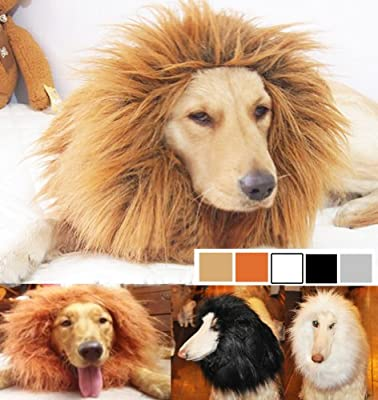 Generic Dog Costume Lion Mane Wig