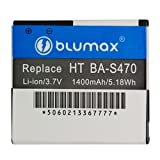 Blumax Li-Ion Battery for HTC BA-S470/Desire HD Ace A9191/T-Mobile myTouch HD (3.7 V 1400 mAh)