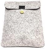 【 Trtrbz 】 フェルト素材 タブレット バッグ ケース インナーバッグ iPad mini / iPad Air / 他 シンプル デザイン (グレー)