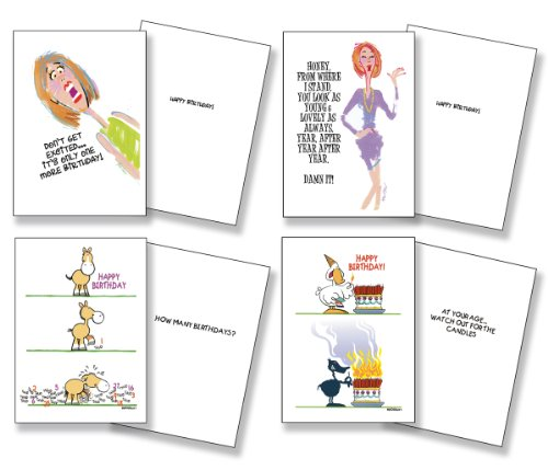 Birthday Card Assorted Humorous Pack of 24 Cards/26