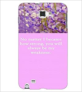 PrintDhaba Quote D-3721 Back Case Cover for SAMSUNG GALAXY NOTE 1 (Multi-Coloured)