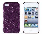 Dark Purple Sparkles Case for Apple iPhone 4, 4S (AT&T, Verizon, Sprint)