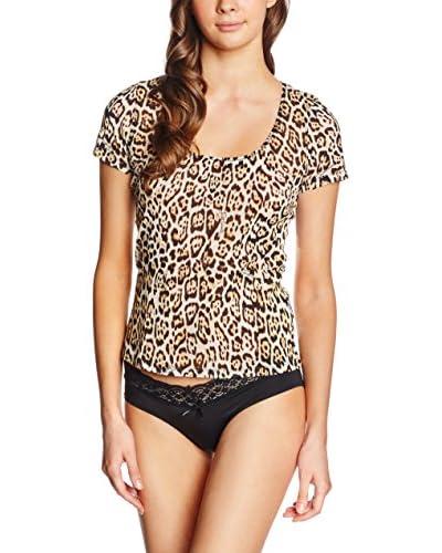 JUST CAVALLI Camiseta Manga Corta Leopardo