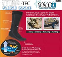 Hot Headz Polarex Fleece Socks, Grey, Large