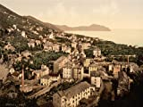 VINTAGE PHOTO TRAVEL NERVI GENOA ITALY NEW FINE ART PRINT POSTER PICTURE 30x40 CMS CC5420