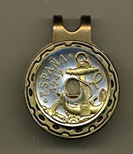 Gorgeous 2-Toned Gold on Silver Spanish Anchor & Ships wheel - Coin - Golf Ball... by J&J Coin Jewelry