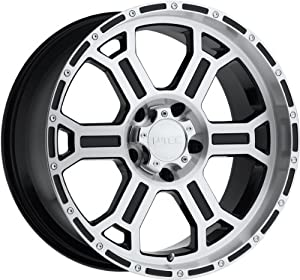 V-Tec Raptor 16 Machined Black Wheel / Rim 8×6.5 with a -6mm Offset and a 126 Hub Bore. Partnumber 372-6881MF-6