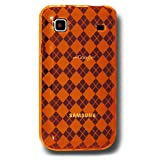 Amzer 88789 Luxe Argyle Skin Case for Samsung Galaxy S I9000 Orange