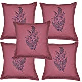 Handmade Home Decor Hand Block Print Work Indian Cotton Cushion Cover Set 16 X 16 Inches