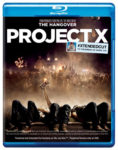 Cover art for  Project X (Extended Cut + UltraViolet Digital Copy) [Blu-ray]