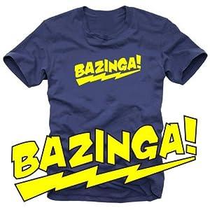 coole fun t shirts t shirt bazinga schwarz gelb s 10630 schwarz gelb gr s. Black Bedroom Furniture Sets. Home Design Ideas