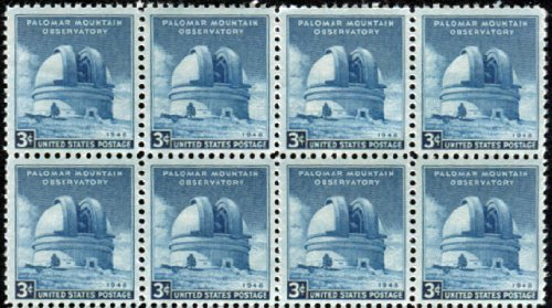 Palomar Mountain Observatory ~ Hale Telescope ~ Astronomy ~ Space ~ Stars #0966 Block Of 8 X 3¢ Us Postage Stamps