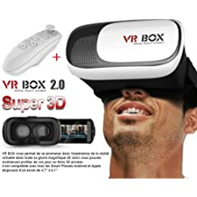 Premium Design Moto X Play Compatible VR BOX 2.0 Virtual Reality Glasses, 2016 Hottest 3D VR Headsets for 4.7~6 Inch Screen Phones with bluetooth remote control ( Random Color)