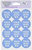 Beistle 54056 Team Sticker, 4 by 6-Inch, Blue/Pink