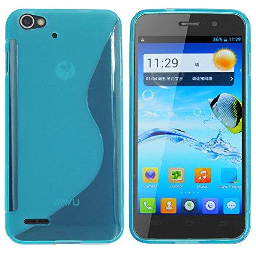 Easbuy Silikon Tasche für JIAYU G4 G4S G4C Smartphone Handy Tasche Hülle Case Handytasche Handyhülle Schutzhülle Etui Case Cover (Blau)