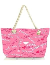 Snoogg I Love You Pink Pattern 1 Women Anchor Messenger Handbag Shoulder Bag Lady Tote Beach Bags Blue