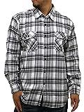 (ルーシャット) Roushatte 大きいサイズ メンズ シャツ ネルシャツ 長袖 チェック 柄 7color LL ブラック