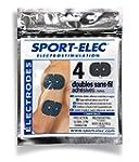 Sport-Elec Easf Lot de 4 electrode po...