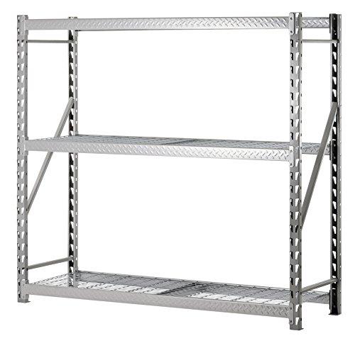 Muscle Rack TP722472W3 3-Shelf Steel Treadplate Welded Rack, Length: 24