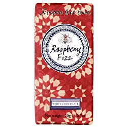 Raspberry Fizz Bee Bar. Raspberry Flavoured White Chocolate with Popping Candy