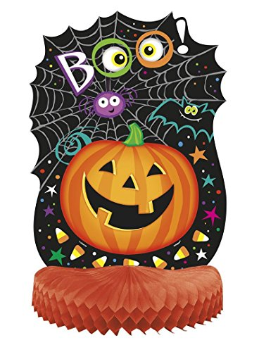 "14"" Honeycomb Pumpkin Pals Halloween Decoration - 1"