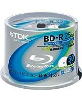 TDK Blu-ray Disc 50 Spindle - 25GB 4X BD-R - Printable