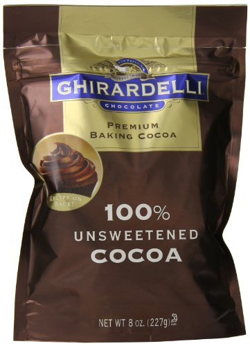 Ghirardelli Chocolate Unsweetened Cocoa Pouch, 8 Ounce (Baking Chocolate Powder compare prices)