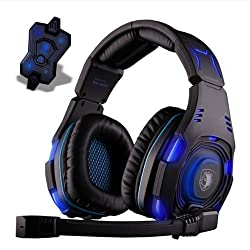 SA 907 Knight 7.1 Surround Sound Gaming Headset with Noise Cancelling Mic and LED