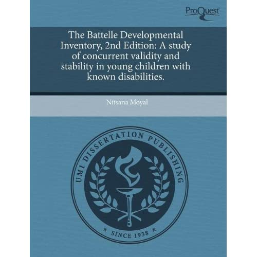 battelle developmental inventory 2nd edition The criteria for institutional level of care is  by the soonerstart early intervention program using the battelle developmental inventory, 2nd edition, .