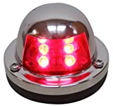 LED Deck Mount Navigation Port Light 12v Red