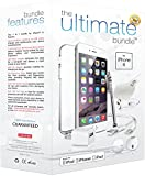 ★ The Ultimate Bundle for iPhone 6 ★ - 7 in 1 Accessory Kit - White - MFI Apple-Certified - Gift Packaging Includes: 3ft Apple Certified Lightning Cable, Wall Charger, Car Charger, 3.5mm Earbuds Headset with Remote and Mic, Clear HD Screen Protector w/ Cleaning Cloth, TPU Case, Stylus.